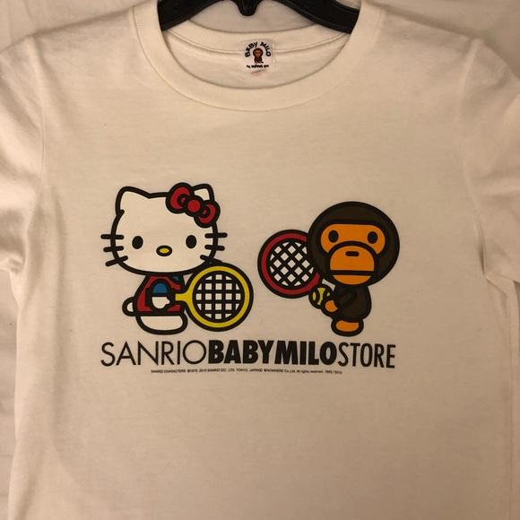 133aee9458ee Bape Tops - Baby Milo Bathing Ape Bape Sanrio Hello Kitty Tee